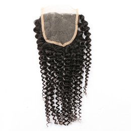 Free way curly part online shopping - Brazilian Kinky Curly Lace Closure Free Middle Way Part Unprocessed Virgin Human Hair Swiss Lace Top Closure With Baby Hair