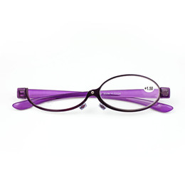 Metal Magnifiers online shopping - Fashion Makeup Reading Glasses Women Lady Make Up Eyeglasses Magnifying Eyewear Purple Metal Frame Magnifier Eye Reader