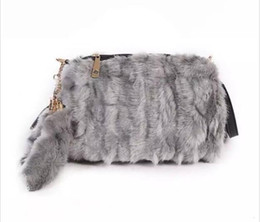 winter fur handbag NZ - Faux Fur Women Handbags Flap Tassel Plush Purse Winter Portable Fur Bag Fashion Female Cross Body Shoulder Bag