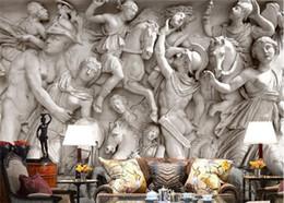 Fiberglass wallpapers online shopping - Custom photo wallpaper D European Roman statues art wallpaper restaurant retro sofa backdrop d wallpaper mural wall painting
