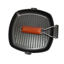 BBq sticks online shopping - Fashion New Upspirit Multifunctional Non Stick Skillet Frying Pan Iron Foldable Bbq Griddles Grill Pans Panelas Frigideira Cooking Pan New