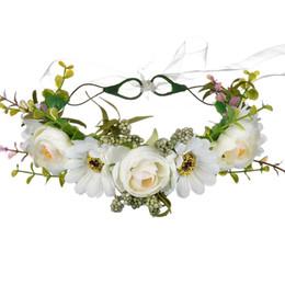 Fairy Wedding Hair UK - Rose and Mum headpiece flowers hair headbands for women bridal hair accessories bridal headpieces for wedding headdress hair accessories