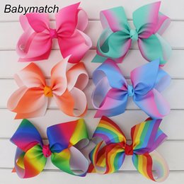 wholesale large alligator hair clips NZ - 6 Inch Big Grosgrain Bow For Kids Teens Ribbon Hair Bows With Alligator Clips Large Girls Boutique Hairbow Accessories Babymatch