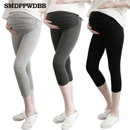 Leggings Pregnant Australia - SMDPPWDBB Spring Maternity leggging Thin Pregnancy Clothes Summer Women Pants For Pregnant Women Leggings Maternity Clothing