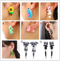 Jewelry & Accessories Lower Price with Fashion Handmade Polymer Clay Soft Cute Anlmal Earrings For Women Cartoon Animal Piercing Ear Stud Earrings Jewelry Gift Crazy Price Stud Earrings