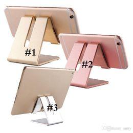 Universal cell phone desk holder online shopping - Universal Aluminum Metal Mobile Phone Tablet Holder Desk Stand for cell phone ipad