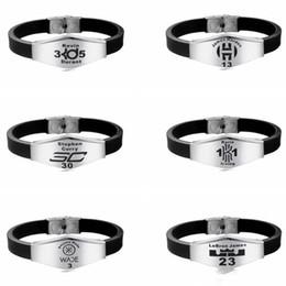 $enCountryForm.capitalKeyWord Australia - Basketball Fans Souvenir Bracelet Silicone Wristband Adjustable Customized ID Famous Basketball Player Logo Engraving Sports Bracelets Gift