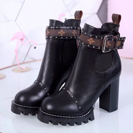 db2b5be0d6b3f7 Black platform ankle Boots chunky heel online shopping - Luxury Top Brand  Women Martin Ankle Boots