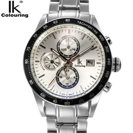 Luxury Ik Brand Watch Australia - Relogio Masculino IK Mens Watches Top Brand Luxury Fashion Business Mechanical Watch Men Sport Full Steel Waterproof Wristwatch