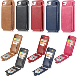 Iphone Flip Up Australia - Leather Case Cover For iPhone X 8 7 6S Plus Up Down Card Slot Flip Wallet Photo Frame Pouch Pocket
