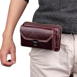 $enCountryForm.capitalKeyWord Canada - 2018 Brand Genuine Leather Vintage Waist Packs Men's Travel Fanny Pack Belt Bag Mini Retro Mobile Phones Bags Money Pouch