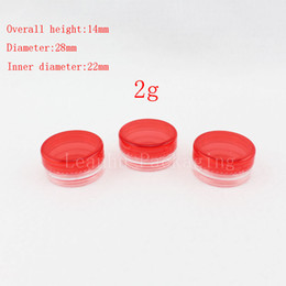 Red Balm NZ - 2g red empty cosmetic containers with screw cap, sample lip balm containers jar solid perfume container 2g plastic cream jars
