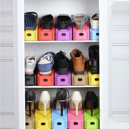 shelve stand 2019 - Shoe Racks Double Cleaning Storage Shoes Rack Convenient Shoebox Shoes Organizer Space Saving Stand Shelf for Living Roo