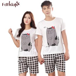 9615b1a91a Summer Cartoon Pijamas Men Shorts Women s Lounge Couple Pajama Set Plus  Size Sleepwear Pyjamas Home Clothes XXL E0371