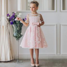 $enCountryForm.capitalKeyWord Australia - Princess Pink Toddler Cute Little Girl's Pageant Dresses Cheap In Stock Flowers Backless Tulle Flower Girl Dresses