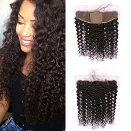 Silk Base Baby Hair Australia - 13x4 Silk Base Frontal Closure with Baby Hair Unprocessed Burmese Human Hair Deep Wave Curly Lace Frontal FDshine