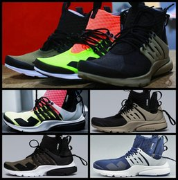 Wholesale Presto MID White Black Hot Lava Medium Olive Mens Running Shoes High Quality Men Sport Trainers Athletic Sneakers Black Bamboo Size