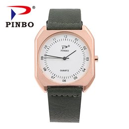 men square watch UK - New Ultra thin Watches for men Square Quartz watch Leather Band clock Men women Sport Wristwatch