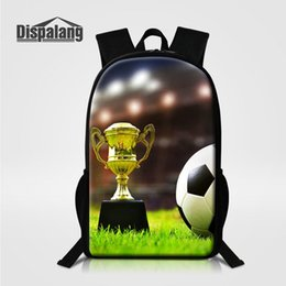 Wholesale Cool Football Printed Boys School Bag Rucksack Soccer Designer Backpack For Teenager Men Large Capacity Business Travel Bag Male Rugtas Pack