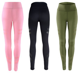 Wholesale Army Clothes NZ - Army Green Sporting Leggings Clothing For Women's Fitness Quick Dry Pants High Waist Leggins Fitness Workout Leggings