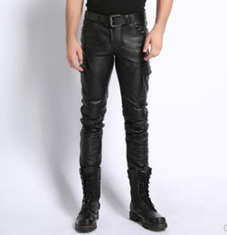 $enCountryForm.capitalKeyWord NZ - M-6XL HOT winter Men New clothing cowhide genuine leather pants warm motorcycle windproof leather trousers slim Plus size singer costumes
