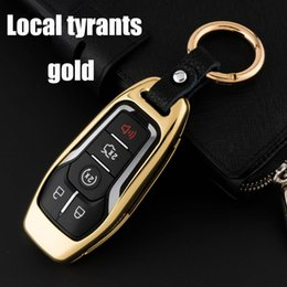 Smart Key Ford NZ - For Ford Mustang Taurus Explorer Car key case Electroplating colorful Remote 4 Buttons Smart Remote protection shell set cover keychain
