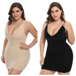 30501fb27a4 Plus Size Body Shaper Women Firm Control Slip Shapewear Seamless Spandex  Under Dress Slimmer Feeling Yourself Full Slips S-6XL
