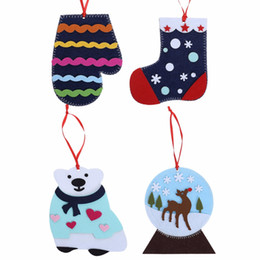 Handmade Christmas Gifts Kids NZ - Christmas Decorations for Home Merry Christmas Gift Kid Handmade DIY Creative Puzzle Sock Natal Noel New Year Tree Decoration