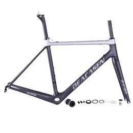 Discount 58cm frame High Performance Carbon Road Bike Frame DEACASEN Bicycle Frame Comfortable Design 48 51 54 56 58CM Availabled Carbon Roa