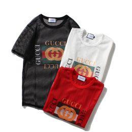 2018 новый стиль Женская одежда ажурные дышащий женский жилет slim fit футболка мода с коротким рукавом футболки воротник дизайнер футболки