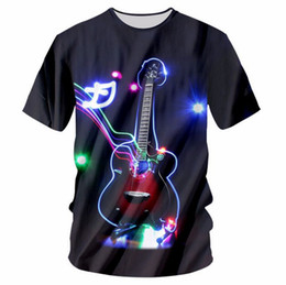 $enCountryForm.capitalKeyWord UK - New Fashion Womens Mens The guitar 3D print Leisure T-shirt KL008