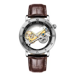 unique luxury watches UK - Fashion Top Men Mechanical Watch Unique Transparent Hollow Automatic Self Wind Watches Men Stainless Steel Tourbillon Watches 171_04