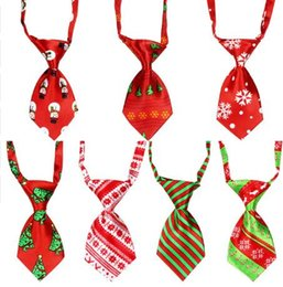 Tie Necktie Bow Dogs Australia - 100 pcs Christmas holiday Pet Dog Necktie Adjustable Handsome Bow Tie Necktie Grooming Supplies Y107