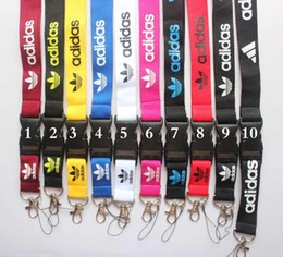 Wholesale car Sport Logo neck Lanyard for MP3 cell phone key DS lite Mobile Phone Straps