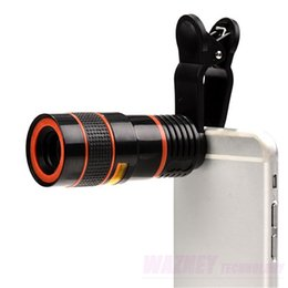 Wholesale 100set X Optical Times Zoom Cell Phone Telescope Camera LENS With Clip For iPhone Samgsung huawei