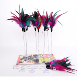 Good Toys Australia - Cat Toys Elastic Feather toy Bottom Sucker Toys for Cat Kitten Playing Pet Seat Scratch Toy Pet Cat good quality