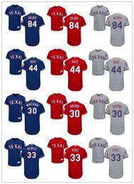 Texas Baseball UK - custom Men's women Texas Rangers Jersey #30 Nomar Mazara 33 Martin Perez 44 Tyson Ross 84 Prince Fielder Baseball Jerseys