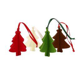 Gift Craft Christmas Ornament UK - 10PC Christmas Tree Ornament Hanging Pendant Embellishment Felt Craft Gifts Party Decor Pendants Wholesale noOT25