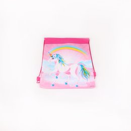 China 1pc pack Rainbow unicorn Theme Party Loot Bag Party Supplies Gift Bag Kid Girls' Birthday Wedding Decoration cheap loot bags wholesale suppliers