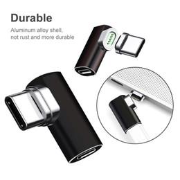 Магнитная быстрая зарядка поддержка 4.3 A Локоть прямоугольный USB Тип C к USB C зарядное устройство адаптер конвертер для Macbook