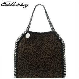 2b80d06372 2018 Estelle Wang Sacos de Ombro de Tecido de Leopardo Do Vintage Senhora  Cadeia de Moda Pequeno Saco Quadrado Mulheres Portátil Crossbody Bag Bolsa