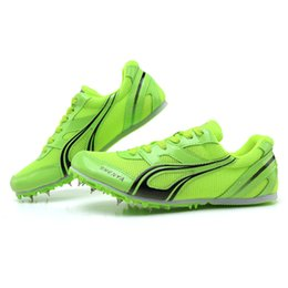 running athletic spikes shoes NZ - 2018 sports running shoes for men spike running spikes athletics sprint spikes male female nails training breathable sneakers