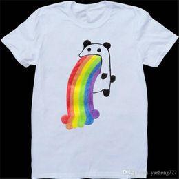 c2ae4a904afb Summer Sleeves Fashiont O-Neck Short Puking Panda Premium Mens Tee Shirts
