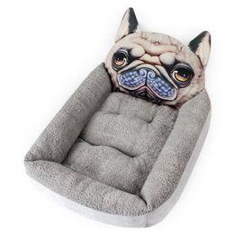$enCountryForm.capitalKeyWord Australia - Pet Bed Pets Kennels Short Plush 3D Cartoon Animal Nest Pet Nest Small Cat Dog Mattress Pet Kennel Cat Sleeping Pad Houses