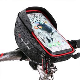 Непромокаемые велосипед Велосипед телефон сумка сенсорный экран сотовый телефон держатель велосипед руль сумки MTB рамка сумка