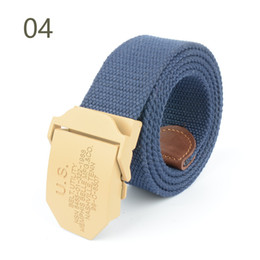 Inner Belt Australia - High Quality Fashion Cheap US Tactical Duty Canvas Sport Belt for Men and Women Casual and Smooth Buckle Young Jeans Pants Waist Belt