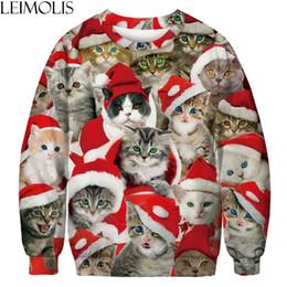 $enCountryForm.capitalKeyWord Canada - LEIMOLIS 3d print Christmas cat family funny sweatshirts men streetwear DropShip casual harajuku o neck Hoodies hip hop Pullover