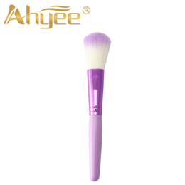 Discount faced cosmetics pro - New Makup Brushes Pro Colorful Cleaner Face Blush Brush Cosmetic Tools Purple White Hair Brush Powder Beauty Spa Profess