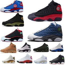 cheap flights shoes 2019 - Cheap New Basketball Shoes 13s 13 Men Women Bred playoff Flints Chicago red white Flights Olive Ivory Black Cat grey spo