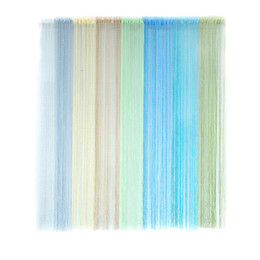 China Ouneed string curtain 1PC hot sale Patio Door Fly Screen Room Divider Door Window Fringe Curtains*30 GIFT 2017 Drop shipping supplier building door suppliers
